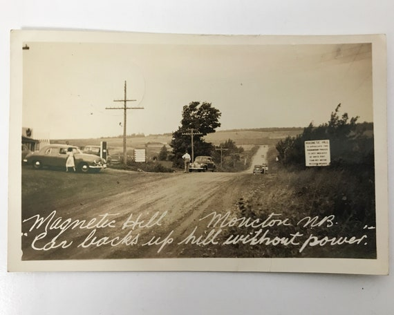 Antique Real Photo Post Card - Magnetic Hill Moncton New Brunswick