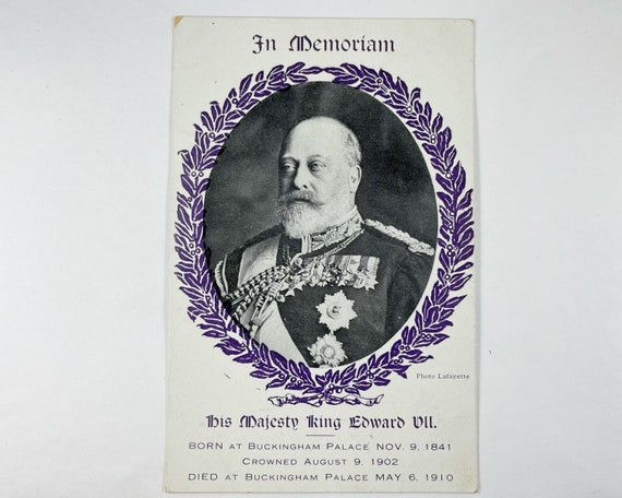 In Memoriam Card: His Majesty King Edward VII, Died May 6, 1910