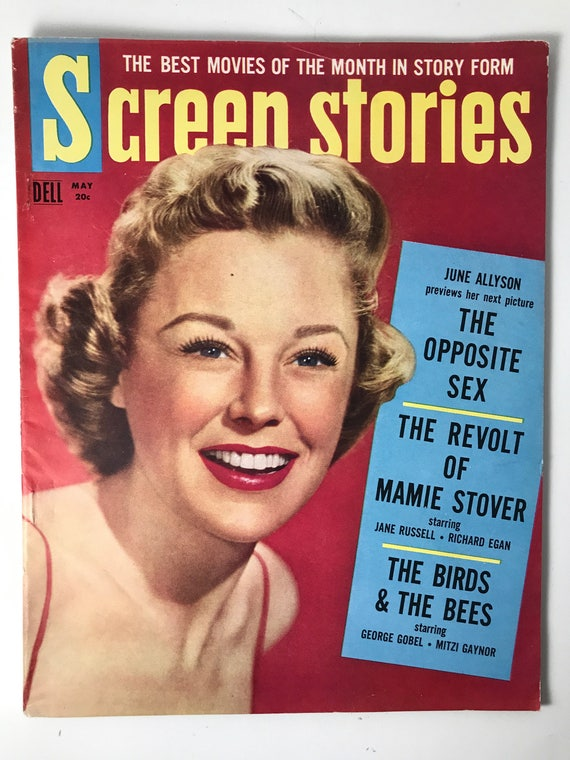 Screen Stories Magazine May 1956 - Cover June Allyson