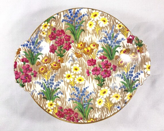 Vintage Royal Winton Grimades Marguerite Chintz Small Condiment or Sweetmeat Dish