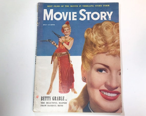 Movie Story Magazine July 1949 - Cover Betty Grable - Vintage Movie Magazine - Inside Secret Garden, Bob Hope, Lucille Ball