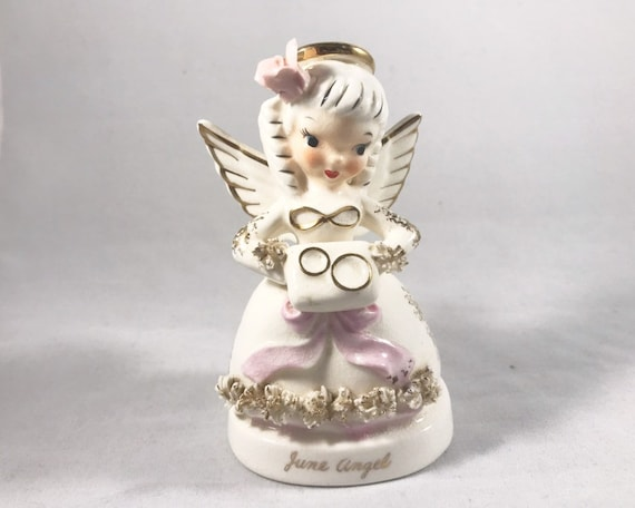 Napco June Angel - Birthday Angels of the Year Collectible Figurine