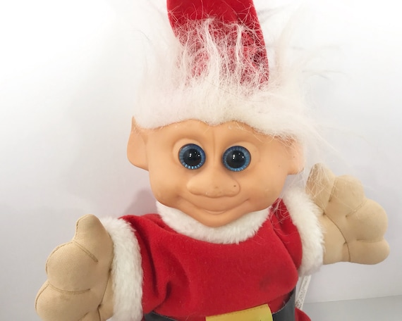 Vintage Plush Troll Doll - Fairy-Tale Trolls - Santa or Christmas Elf