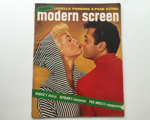 Modern Screen Magazine January 1955 - Cover Tony Curtis & Janet Leigh - Vintage Movie Magazine