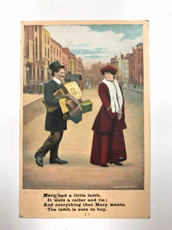 Antique Postcard - Bamforth & Co. Publishers - Humorous Vintage Post Card