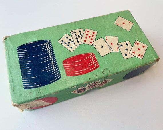 Vintage Poker Chips in Box