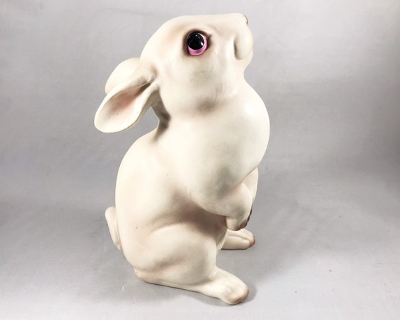 Vintage White Rabbit Figurine - Made in Japan