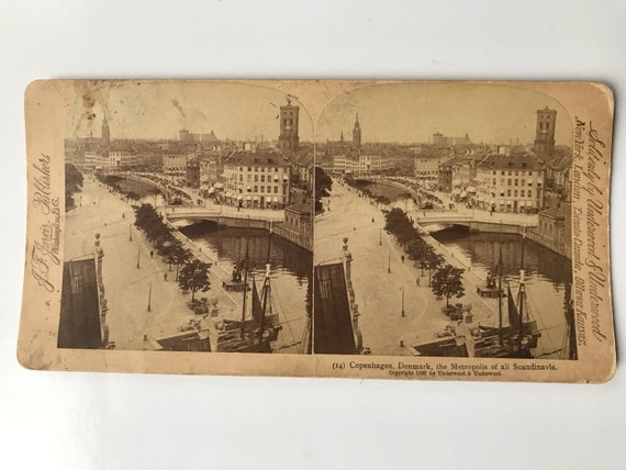 Antique Stereoview of Copenhagen, Denmark, J. F. Jarvis, Publishers, Copyright 1897