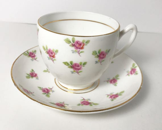 Vintage Duchess Fine Bone China Pink Rose Teacup and Saucer - Made in England - Teatime