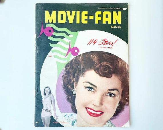 Vintage Movie Fan Magazine - 1947 - Cover Esther Williams - Inside Robert Mitchum, Mark Stevens, Liz Taylor, Joan Crawford, Cyd Charisse