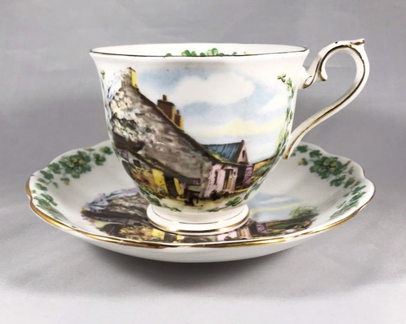 Vintage Royal Albert Londonderry Air Bone China Teacup and Saucer