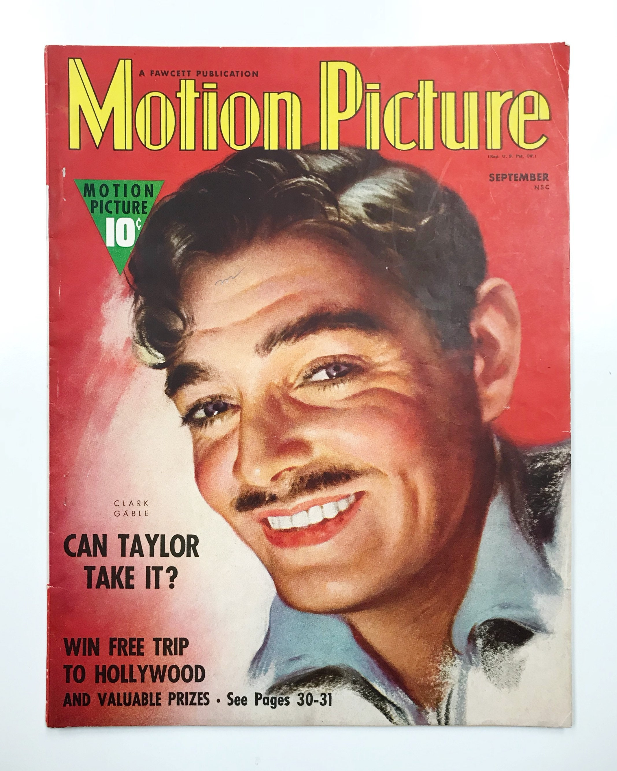 Motion Picture Magazine Sep 1938 - Cover Clark Gable