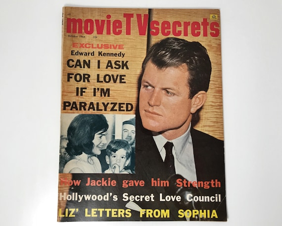 Vintage Movie TV Secrets Magazine October 1964 - Cover Edward Kennedy - Inside Ann Margaret, Debbie Reynolds, Warren Beatty