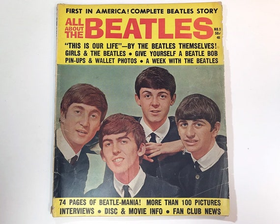 Vintage All About the Beatles Magazine - Beatle-Mania! Published New York 1964 - Packed with Photos