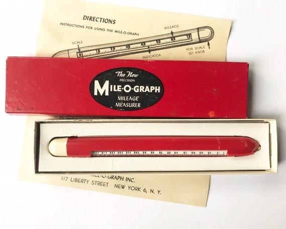 Vintage Mile-O-Graph, Mileage Calculator for Maps