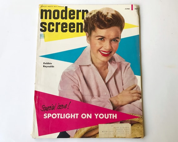 Modern Screen Magazine June 1953 - Cover Debbie Reynolds, Inside Marlon Brando, Elizabeth Taylor, Rosemary Clooney, Donald O'Conner