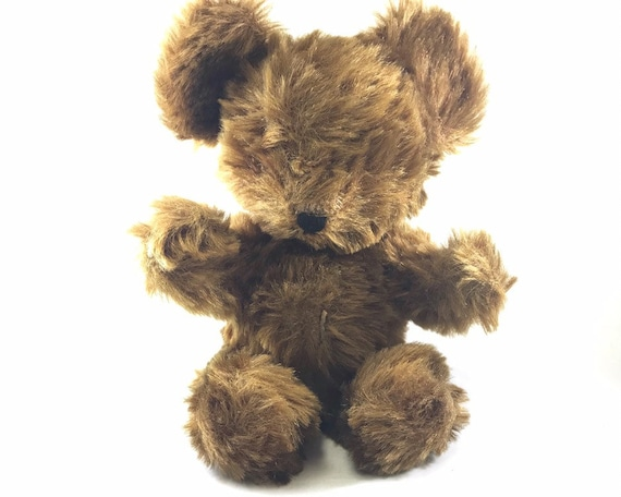 Vintage Shaggy Teddy Bear - Needs Forever Home - No Eyes