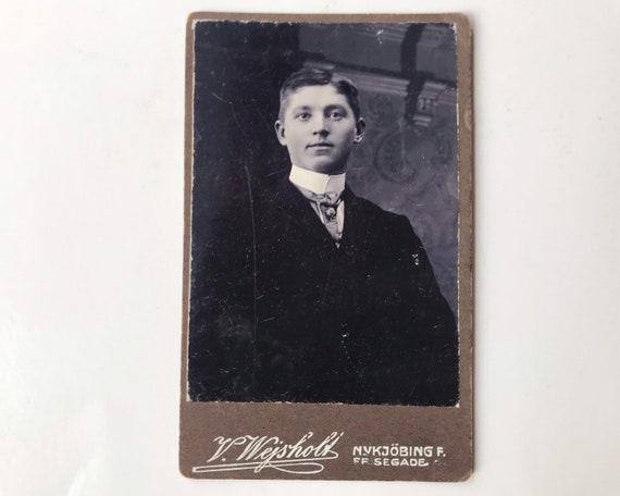Antique Carte de Visite CDV Photograph of Victorian Man from Nykøbing Falster, Denmark