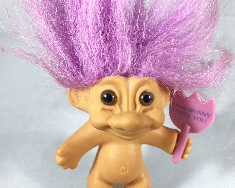 Troll Doll 9 Russ Easter Bunny Rabbit Pink Hair w/tag | eBay