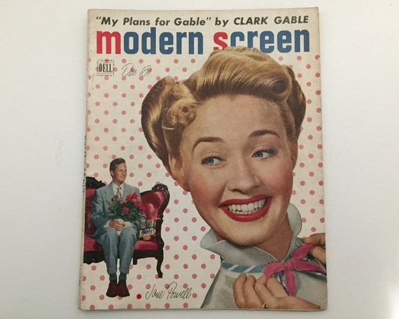 Modern Screen Magazine December 1949 - Cover Jane Powell - Vintage Movie Magazine - Inside Janet Leigh & Clark Gable