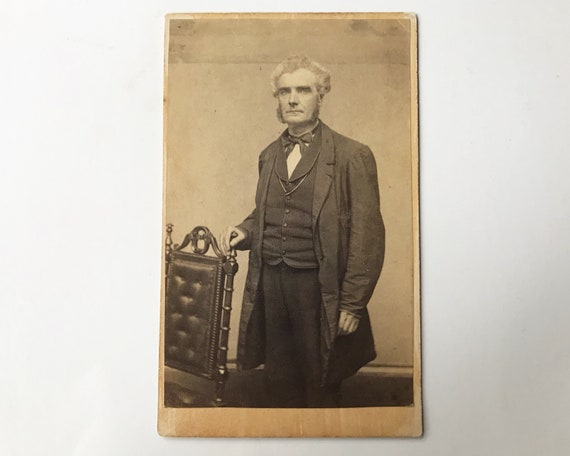 Antique Carte de Visite CDV Photograph of Victorian Man with Mutton Chops, New York