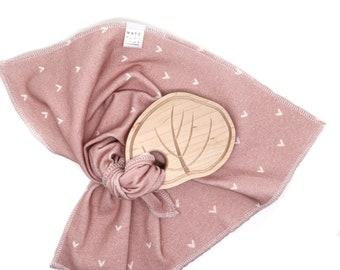 Pink Blanket and Eucalyptus Wood Teether