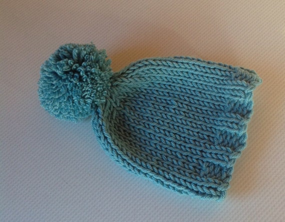 Hand Knit Baby Hat in Debbie Bliss Cashmerino 0-3 Months d55092f6715