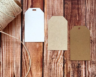 Blank kraft paper tags, blank brown wedding tags, ivory wedding place cards, wedding favor tags, party favor tags, DIY wedding, party decor