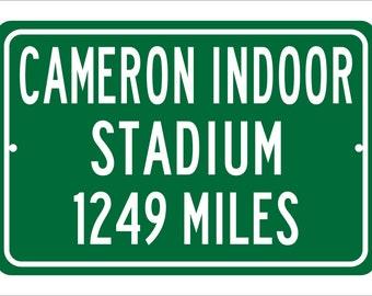 ed6e772703d3ae Custom College Highway Distance Sign to Cameron Indoor Stadium | Home of  the Duke Blue Devils | Duke Basketball | Duke University