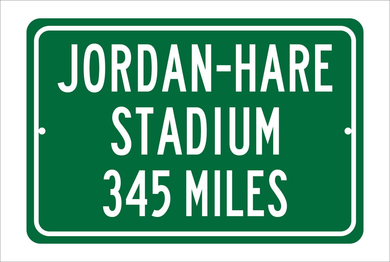 1228a3036bfb95 Custom College Highway Distance Sign to Jordan-Hare Stadium