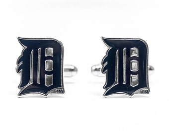 Detroit Tigers Cuff Links -- FREE SHIPPING with USPS First Class Domestic Mail