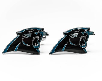 Carolina Panthers Cuff Links -- FREE SHIPPING with USPS First Class Domestic Mail