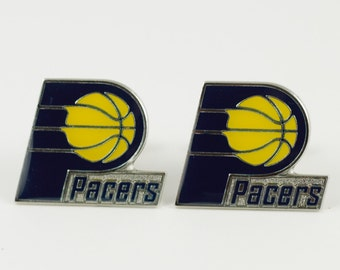 Indiana Pacers Cuff Links -- FREE SHIPPING with USPS First Class Domestic Mail
