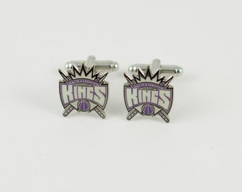Sacramento Kings Cuff Links -- FREE SHIPPING with USPS First Class Domestic Mail