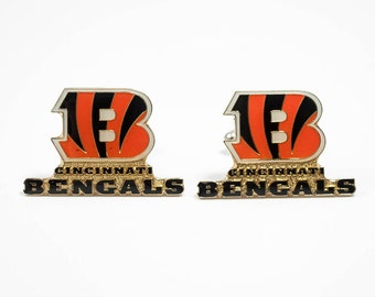 Cincinnati Bengals Cuff Links -- FREE SHIPPING with USPS First Class Domestic Mail