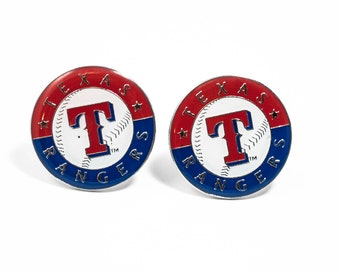 Texas Rangers Cuff Links -- FREE SHIPPING with USPS First Class Domestic Mail