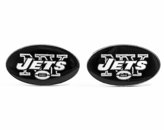 New York Jets Cuff Links -- FREE SHIPPING with USPS First Class Domestic Mail
