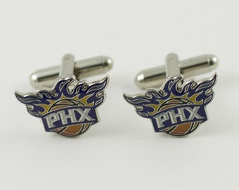 Phoenix Suns Cuff Links -- FREE SHIPPING with USPS First Class Domestic Mail