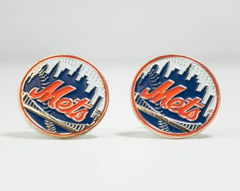 New York Mets Cuff Links -- FREE SHIPPING with USPS First Class Domestic Mail
