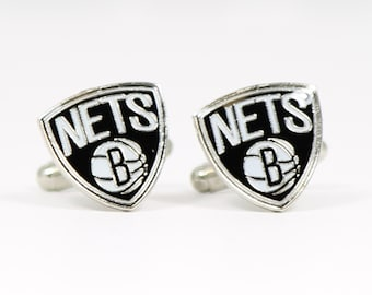 Brooklyn Nets Cuff Links -- FREE SHIPPING with USPS First Class Domestic Mail