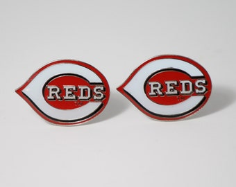 Cincinnati Reds Cuff Links -- FREE SHIPPING with USPS First Class Domestic Mail