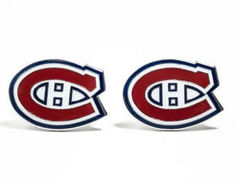 Montreal Canadiens Cuff Links -- FREE SHIPPING with USPS First Class Domestic Mail