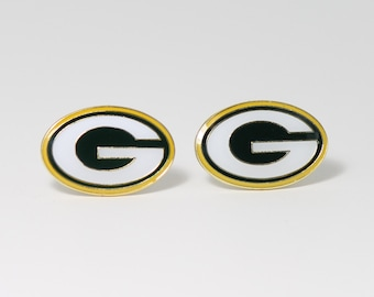 Green Bay Packers Cuff Links -- FREE SHIPPING with USPS First Class Domestic Mail