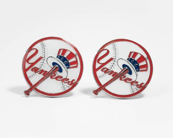 New York Yankees Cuff Links -- FREE SHIPPING with USPS First Class Domestic Mail