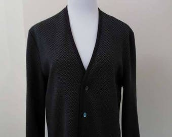 Pall Mall Coxmoore Purple Knitted Wool Cardigan Jacket - Size M 10 12 - Vintage