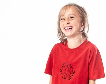 Bugs, insects, t-shirt, kid t-shirt, serigraphy, handmade, recycled cotton, ecofriendly, gift, minimalist, screenprinting, clothing