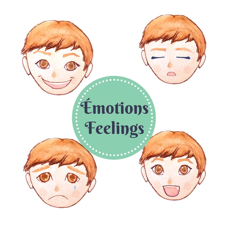 photograph about Printable Feelings Chart titled Emotions chart, inner thoughts, playing cards, child match, instruction recreation, discovering, obtain, printable, boy reward, lady reward, watercolor, example