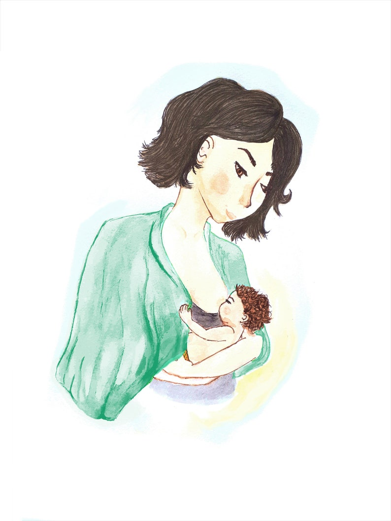 Fundraising Breastfeeding mother baby non-profit image 0