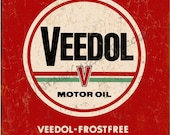 Vintage Style quot Veedol Frostfree quot Advertising Metal Sign