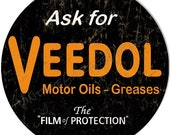 Vintage Style quot Veedol Greases Motor Oil quot Advertising Metal Sign